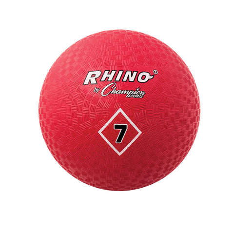 Playground Ball, 7, Red