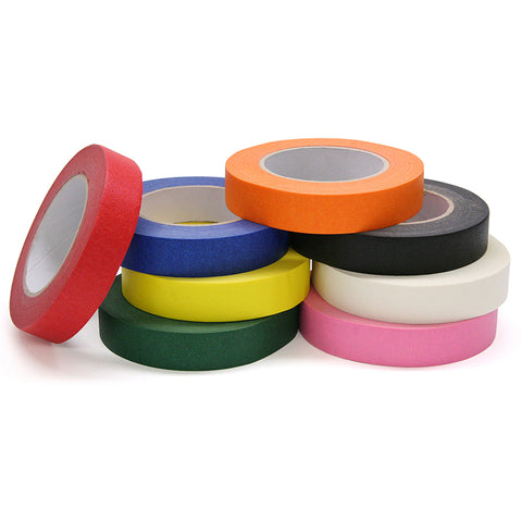 Colored Masking Tape, 8 Assorted Colors, 1 X 60 Yards, 8 Rolls