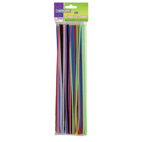 Regular Stems, Assorted Colors, 12 X 4 Mm, 100 Pieces