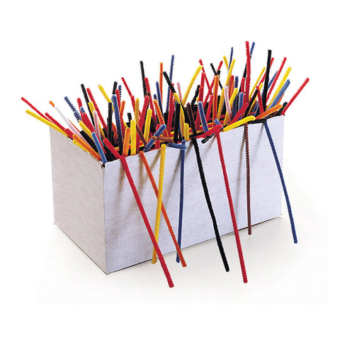 Regular Stems Classroom Pack, Assorted Colors, 12 X 4 Mm, 1000 Pieces