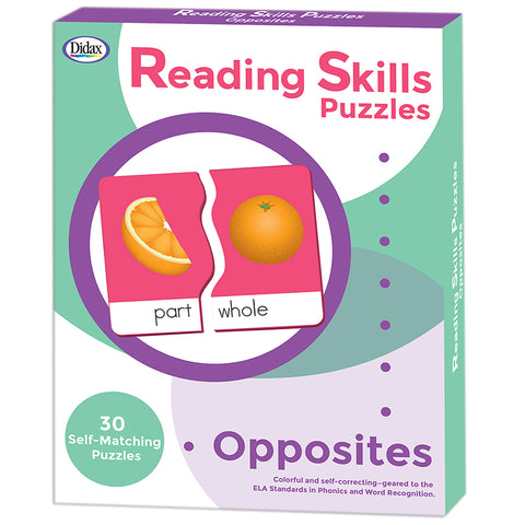 Reading Skills Puzzles, Opposites