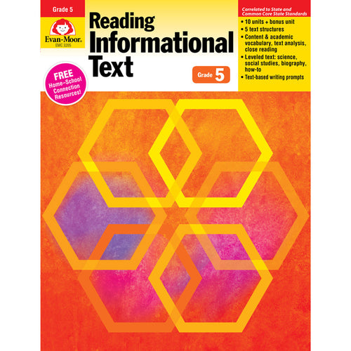 Reading Informational Text: Lessons For Common Core Mastery, Grade 5