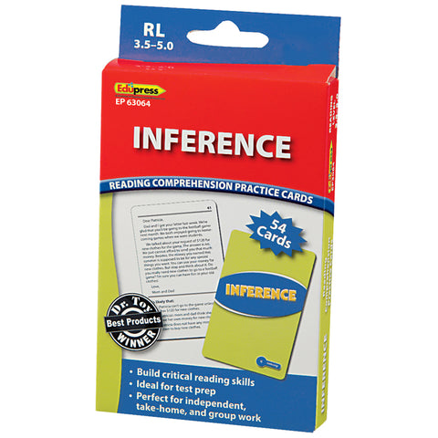 Reading Comprehension Practice Cards, Inference (Rl 3.5-5.0)