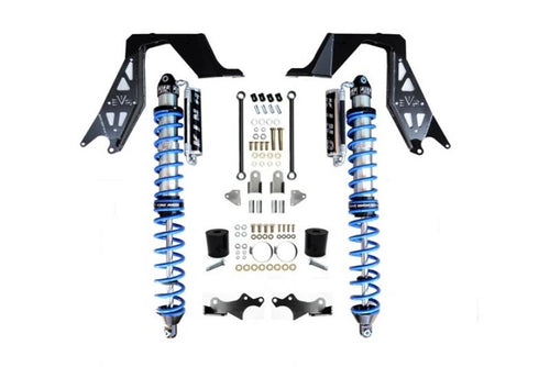 Jeep JL NV2514 Front Bolt-on Coilover Kit 18-Pres Wrangler JL 2/4 Door w/ Comp Adjuster Black EVO Manufacturing
