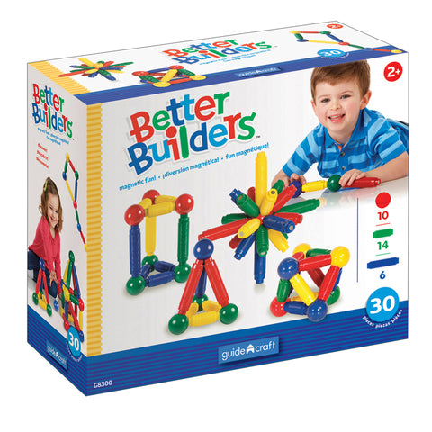 Better Builders 30 Piece Set By Guidecraft Usa