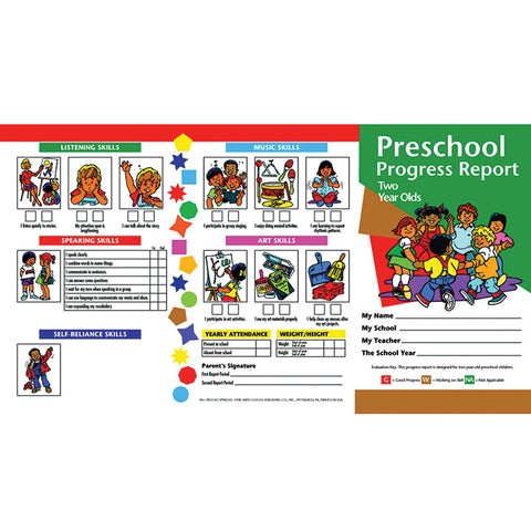 Progress Reports Pk 10-Pk 2 Year