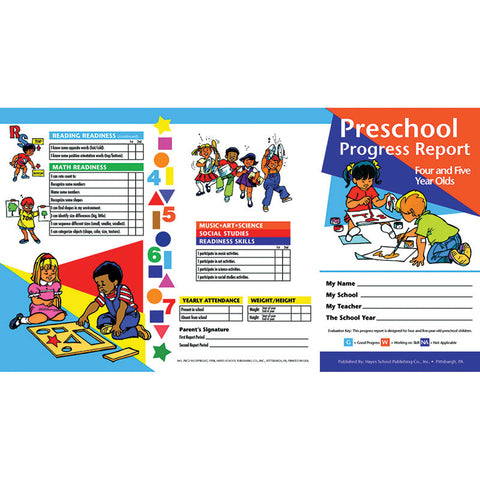Progress Reports Pk 10-Pk 4-5 Year