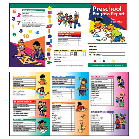 Preschool Progress Report 10Pk Age4 By Flipside
