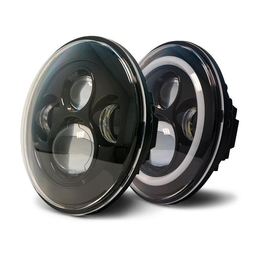 Jeep Wrangler 07-18 LED Projector Headlights w/Angel Eyes DV8 Offroad