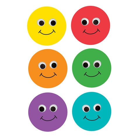 6 Smiley Face Classroom Accents, 30/Pkg