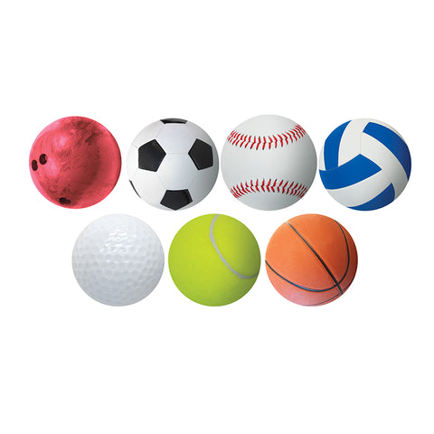 6 Sports Ball Accents, Pack Of 30