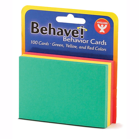 Behavior Cards, 3 X 5, Pack Of 100, Assorted