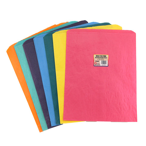 Colorful Paper Bags 12X15 Asstd