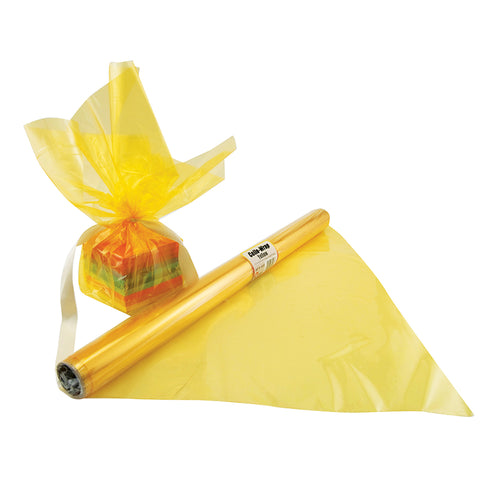 Cello Wrap Roll Yellow By Hygloss Products Inc.