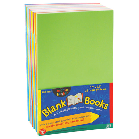 Blank Paperback Books, 5.5 X 8.5, Assorted Colors, 10/Pack