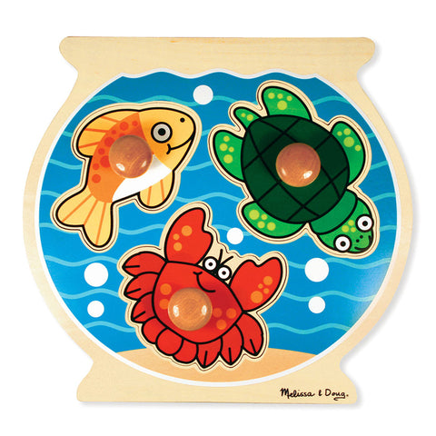 Fish Bowl Jumbo Knob Puzzle, 12 X 12, 3 Pieces