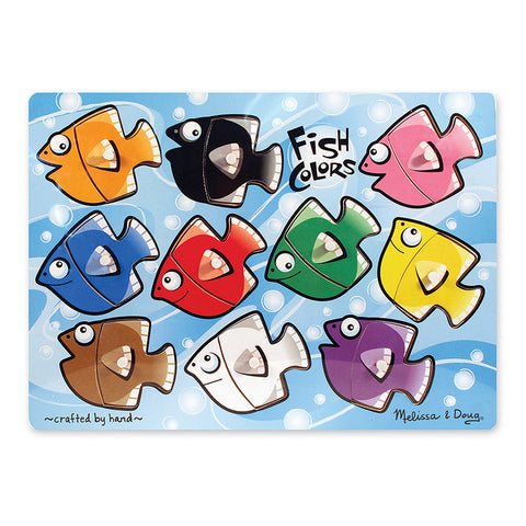 Fish Colors Mix 'N Match Peg Puzzle, 10 Pcs
