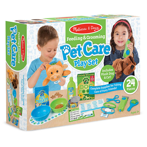 Feeding & Grooming Pet Care Play Set