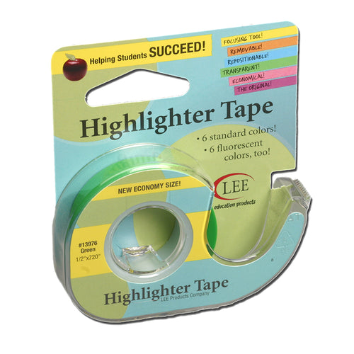 Removable Highlighter Tape, Green
