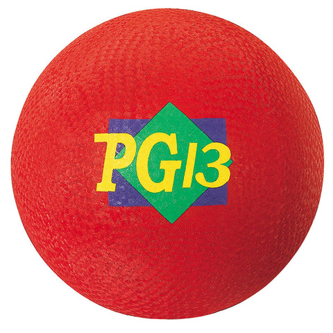 Playground Ball, 13-Inch, Red