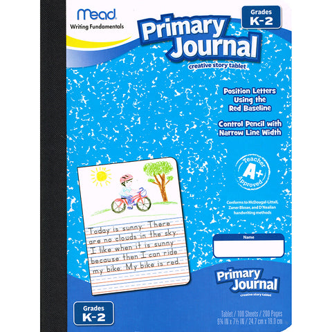 Primary Journal Half Page Ruled, 100 Sheets