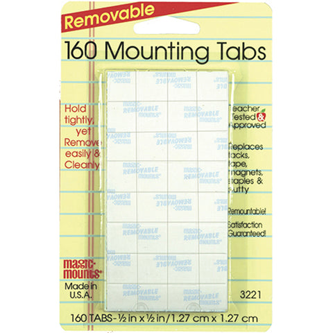 Removable Tabs, 1/2 X 1/2, 160/Pkg