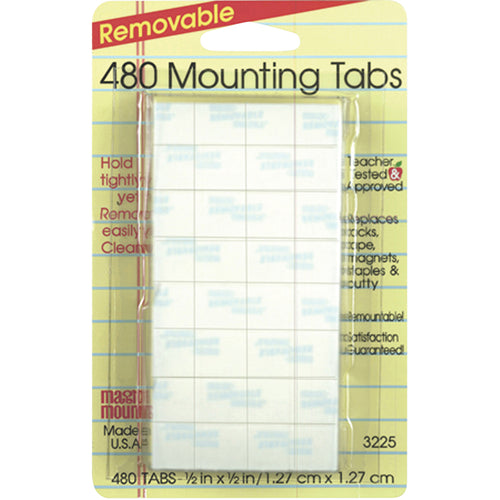Removable Tabs, 1/2 X 1/2, 480/Pkg