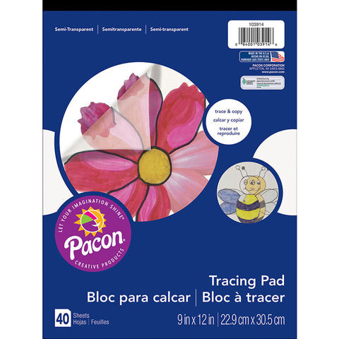 Art Street Tracing Paper Pad, Translucent, 9 X 12, 40 Sheets