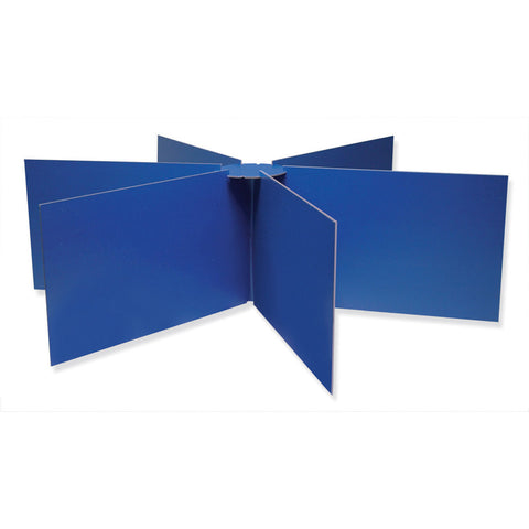 Privacy Boards, Blue, Round Table Compatible, 48 Diameter X 14 High, 1 Board
