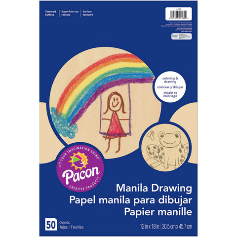 Art Street Drawing Paper, Manila, Standard Weight, 12 X 18, 50 Sheets