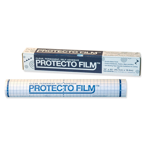 Protecto Film, Clear, Non-Glare Plastic, Dispenser Box Included, 18 X 65', 1 Roll