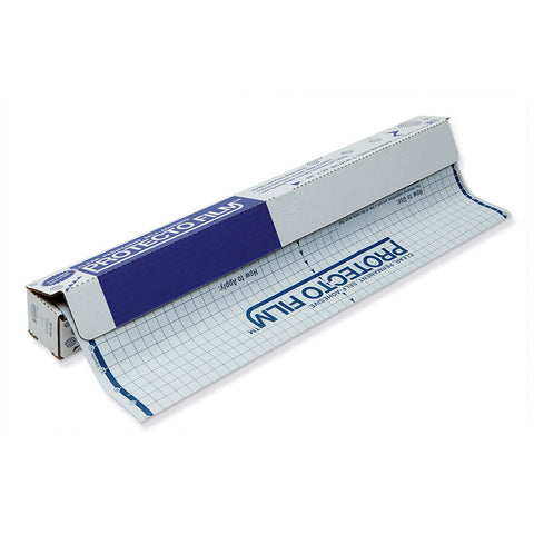 Protecto Film, Clear, Non-Glare Plastic, Dispenser Box Included, 24 X 33', 1 Roll