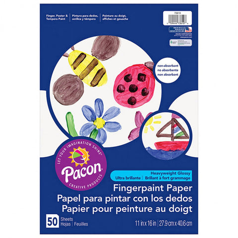 Art Street Fingerpaint Paper, White, 11 X 16, 50 Sheets