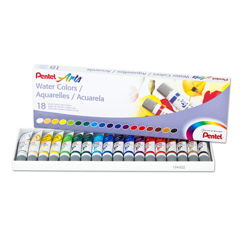 Arts Water Colors, Set Of 18