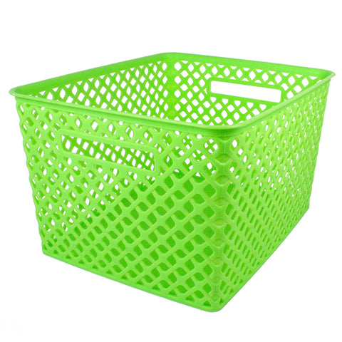 Large Lime Woven Basket