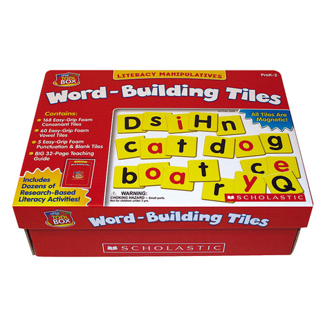 Little Red Tool Box Word Building Tiles, 233 Pieces
