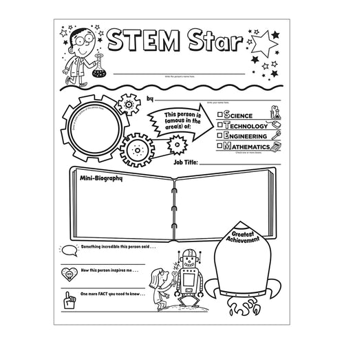 Scholastic Stem Star Personal Poster, Pack Of 30