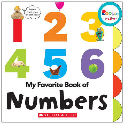 Rookie Toddler Board Book, My Favorite Book Of Numbers