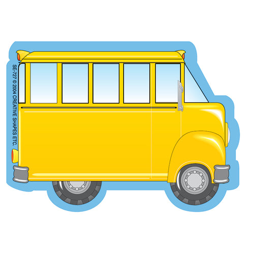 School Bus Mini Notepad, 3 X 3, 35 Sheets