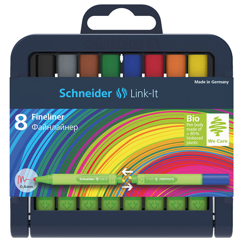 Schneider Link It 0.4Mm Fineliner Pens 8 Colors