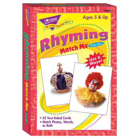 Rhyming Words Match Me Cards