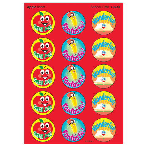 School Time/Apple Stinky Stickers, 60 Ct.