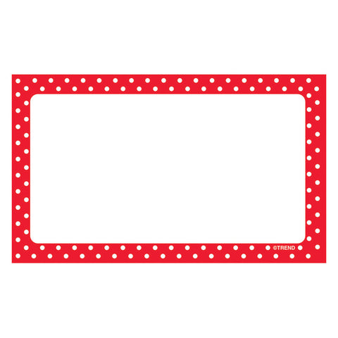 Polka Dots Red Blank Terrific Index Cards, 75 Ct.