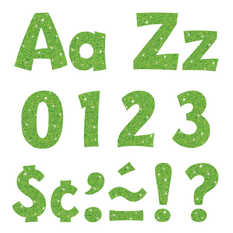 Lime Sparkle 4 Playful Combo Ready Letters