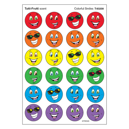 Stinky Stickers Colorful Smiles