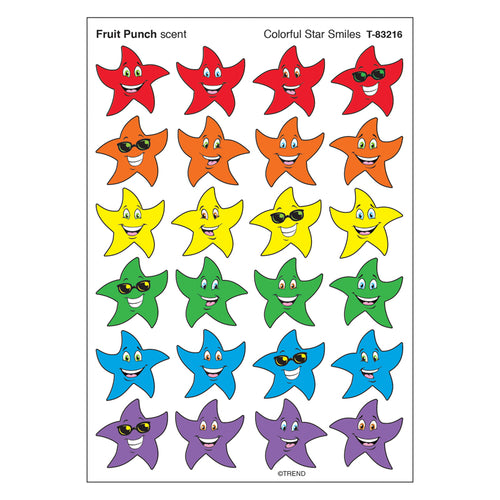 Stinky Stickers Colorful Star Smile