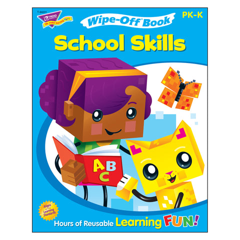 School Skills Wipe-Off Book Wipe-Off Book, 28 Pgs