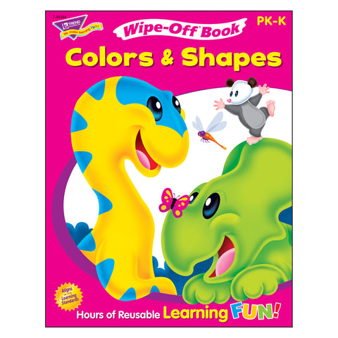 Colors & Shapes Wipe-Off Book, 28 Pgs