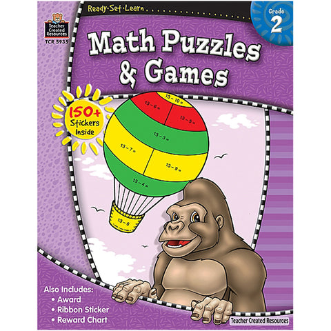 Ready¢Set¢Learn Math Puzzles & Games, Grade 2