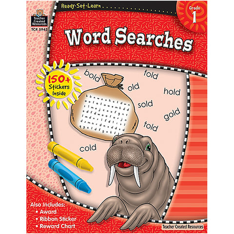 Ready Set Learn Word Searches Gr 1